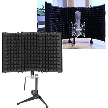 das Schallabsorberschaum aufzeichnet Faltbares Studio-Mikrofon-Isolationsschild
