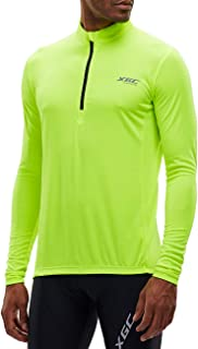 XGC Men's Short/Long Sleeve Cycling Jersey Bike Jerseys Cycle Biking Shirt with Quick Dry Breathable Fabric