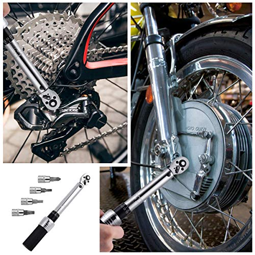 Bike Torque Wrench Set - 2 to 20 Nm – 1/4 Inch Driver Pro MTB Bicycle Maintenance Torque Wrench Kit Tool for Road Mountain Bikes Motorcycle Multitool