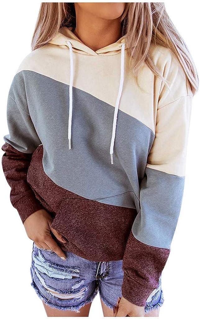 FABIURT Hoodies for Women Teen Girls Cute Heart Printed Long Sleeve Drawstring Pullover Sweatshirt Casual Hoodie Tops