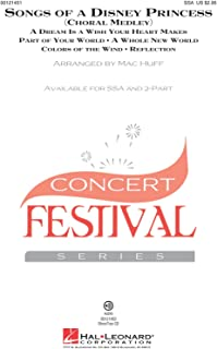 Hal Leonard Songs of a Disney Princess (Choral Medley) 2-Part Arranged by Mac Huff