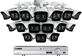 4K Ultra HD 16 Channel Security System with 16 Ultra HD 4K (8MP) Outdoor Metal Audio Cameras, 150ft Color Night Vision