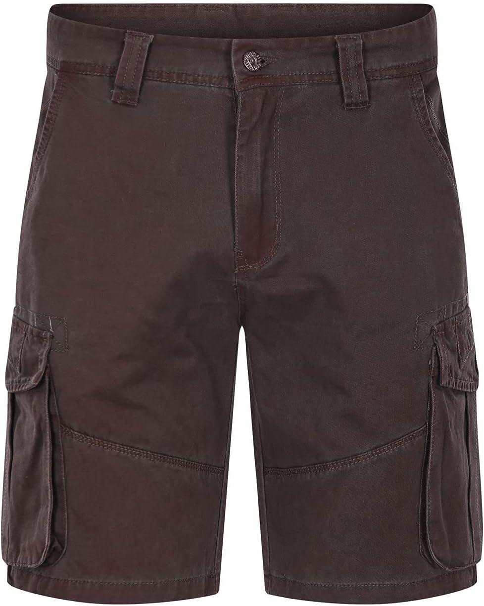 Men's Cargo Denim Shorts Multi Pockets Loose Fit Jean Short Summer Cotton Straight Leg Outdoor Casual Jeans Shorts (Red,36)