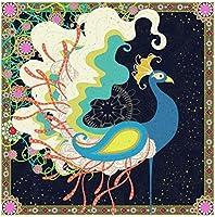 DMFNGJSD 数字油絵 フレーム付き 、数字キット塗り絵 手塗り DIY絵-漫画の孔雀-デジタル油絵 40x50 cm