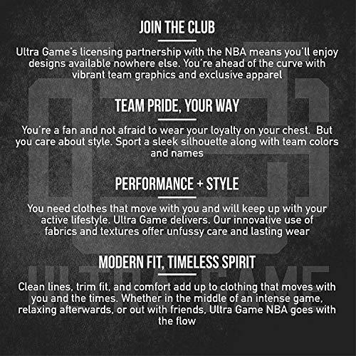 Ultra Game NBA - Sudadera para hombre con cierre de cremallera corta, Morado, XL