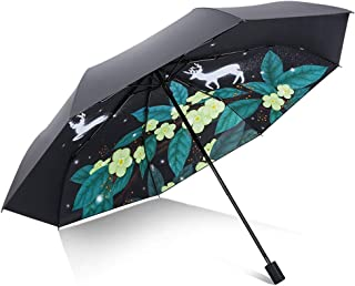 YQRYP Three Fold Umbrella, Windproof Rainproof Protection Parasol with Suitable for Company Placement, Work Or Outings Out with A Portable Umbrella Windproof Umbrella, Golf Umbrella (Color : Green)