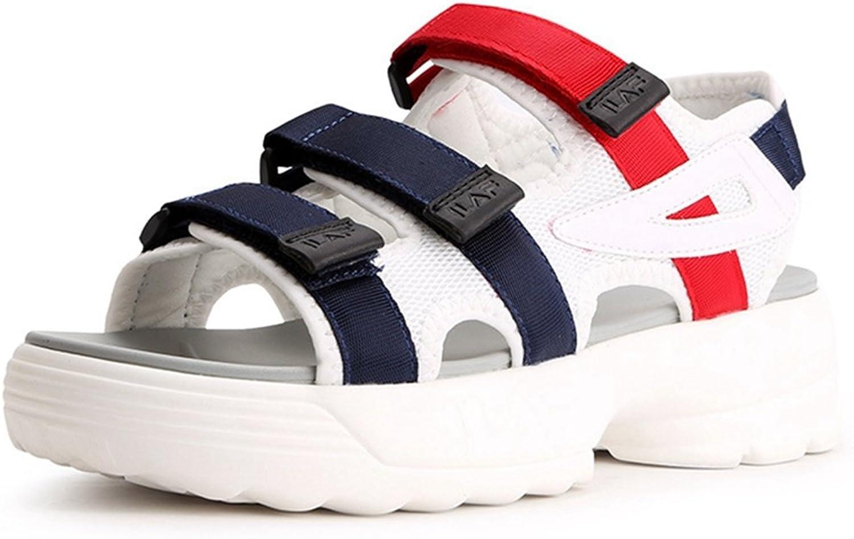 GIY Women's Platform Heeles Wedges Sandals Summer Peep Toe Outdoor Athletic Sandal Walking Sneaker