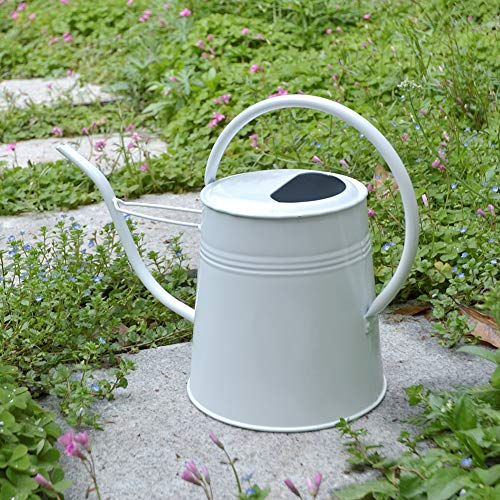 HORTICAN 0.6 Gallon Galvanized Watering Can Modern Style Watering Pot with Handle for Outdoor and Indoor House Plants