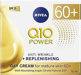 NIVEA Q10 Mature Anti-Wrinkle + Replenishing Firming Day Cream Moisturiser for Mature Skin with Argan Oil, Natural Q10 & SPF15 Sun Protection, 50 ml