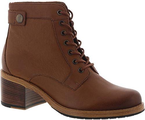CLARKS femmes Clarkdale Tone Tone Ankle démarrage, Dark Tan Leather, Taille 9  vente de sortie