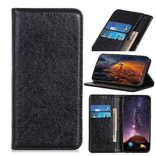 Snow Color Oppo Realme 6Pro Hülle, Premium Leder Tasche Flip Wallet Case [Standfunktion] [Kartenfächern] PU-Leder Schutzhülle Brieftasche Handyhülle für Oppo Realme 6 Pro - COKZN020267 Schwarz