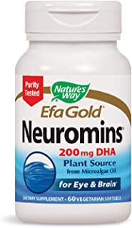 Nature's Way EfaGold Neuromins 200mg DHA Plant Source, 60 Softgels