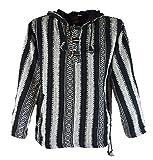 Goa Kapuzenshirt, Baja Hoody / Hoodies und Goa Jacken, alternative Bekleidung von Guru-Shop, Schwarz, Gr. M