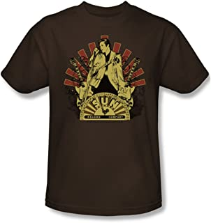 Sun Records Elvis Rising Adulto t-Shirt in caffè