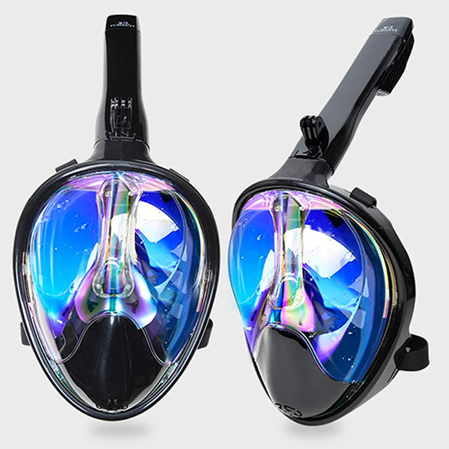 Snorkeling Mask Full Face Anti Leak Anti Fog 180° View Snorkel Mask Diving Mask 1 Pieces