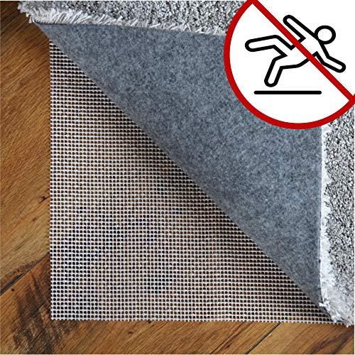 LILENO HOME Anti Rutsch Teppichunterlage aus Vinyl (80x150 cm) - Fußbodenheizung geeignete Teppich Antirutschmatte für Glatte und Harte Böden - Teppichstopper für EIN sicheres Zuhause