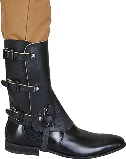 Historical Emporium Men's Deluxe Leather Military Gaiters