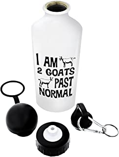 ThisWear Goat Gifts I am 2 Goats Past Normal Funny Goat Lover Gift Gift Aluminum Water Bottle with Cap & Sport Top