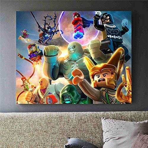 AJleil Puzzle 1000 Piezas Imagen de Pintura de Dibujo de Arte cómico de héroes Famosos Puzzle 1000 Piezas clementoni Gran Ocio vacacional, Juegos interactivos familiares50x75cm(20x30inch)