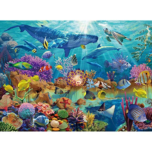 Becko 500 Piece Jigsaw Puzzle Educational Puzzles Christmas Thanksgiving Gift Family Indoor Game for Adults and Kids - Undersea World Ocean Scene with Various Species of Marine Life