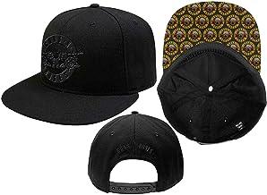 Guns N Roses Baseball Cap Classic Band Logo Brim Print Official Black Snapback One Size