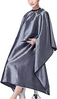 "OLizee Hair Cut Hairdressing Cape Cloth Apron Stretch Out Hand Waterproof Salon Barber Gown 57 x 63"", Grey"