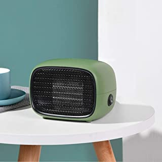 Mini Calefactor Eléctrico,Termoventilador Calefactor Portatil Calefactor Cerámico Aire Caliente y Natural Apto para Hogar/Baño/Oficina, Doble Protección de Seguridad, Bajo Consumo ( Color : Green )