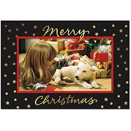 "From Our Happy Home Hallmark Holiday 4/"" X 6/"" Photo Holder Cards Box of 12"