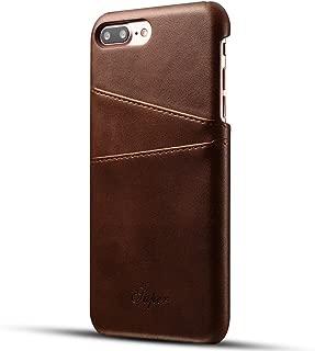 iPhone8Plus ケース 手帳型 アイフォン8Plus スマホケース 本革 耐衝撃 軽量 革ケース 財布型 レザーケース カード収納 ブラウン