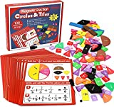 Torlam Magnetic Fraction Tiles & Fraction Circles Activity Set - Math Manipulatives for Elementary School - Fraction Magnets & Resources - Fraction Strips & Bars