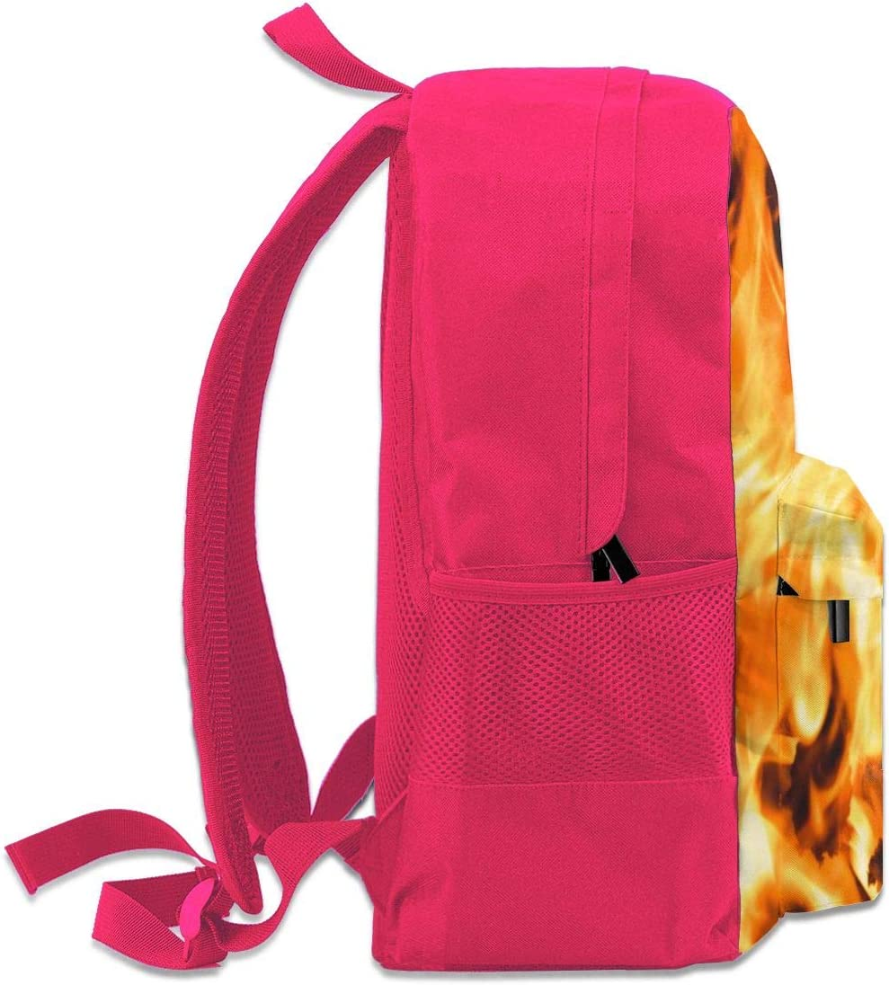 Backpack Bright Flame Of A Fire Laptop Travel School College Backpacks Bag