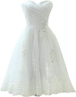 3dadbffedaae3 JAEDEN Robes de mariée Court Robe Nuptiale Femme Robe de Mariage Organza sans  Bretelles