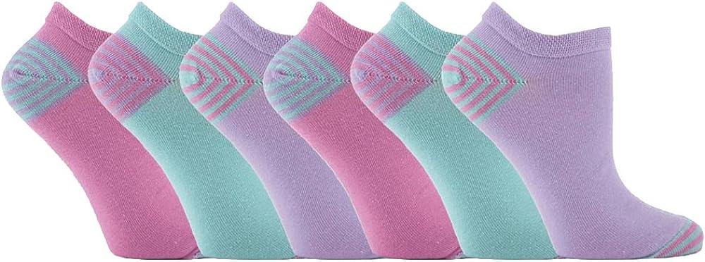 Jennifer Anderton - 6 Pack Womens Colorful Cotton Low Cut Ankle Sneaker Socks