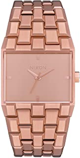NIXON Ticket A1262-50m Water Resistant Men's Analog Fashion Watch (34mm Watch Face, 30mm-23mm Stainless Steel Band)