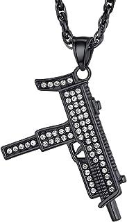 قلادة من PROSTEEL Punk Rock ، M16A4 قلادة على شكل بندقية وسلسلة ، مجوهرات رجالية رائعة، هدية له