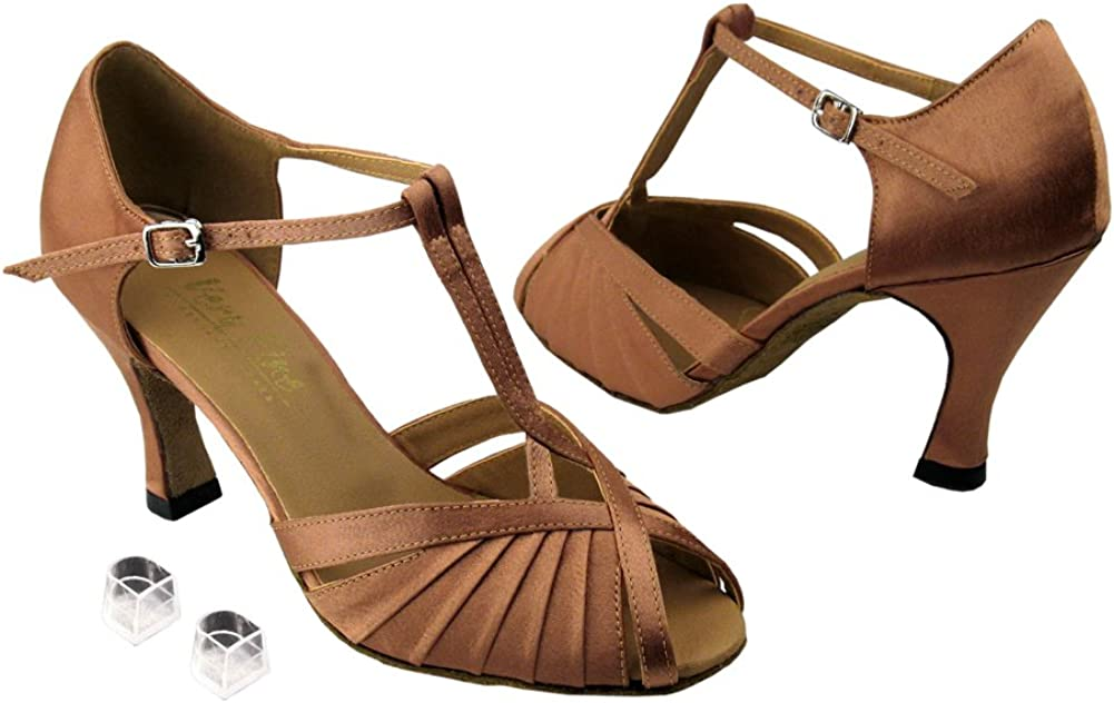 Very Fine Ladies Women Ballroom Dance Shoes EK2707 with 3