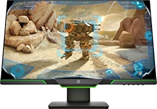 HP 25x - 24.5-inch LED Full HD 1920x1080 Gaming Monitor, 144 Hz Refresh Rate - Gray/Green (Renewed)