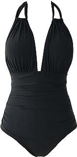 CUPSHE Women's Keep Secrets Halter One Piece Swimsuit Beach Swimwear