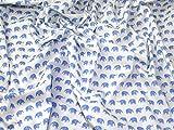 Minerva Crafts Popeline-Stoff, Elefanten, Blau auf