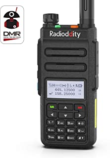 Radioddity GD-77 Dual Band Dual Time Slot DMR Digital/Analog Two Way Radio VHF/UHF 1024 Channels Ham Amateur Radio w/Free Programming Cable and Charger