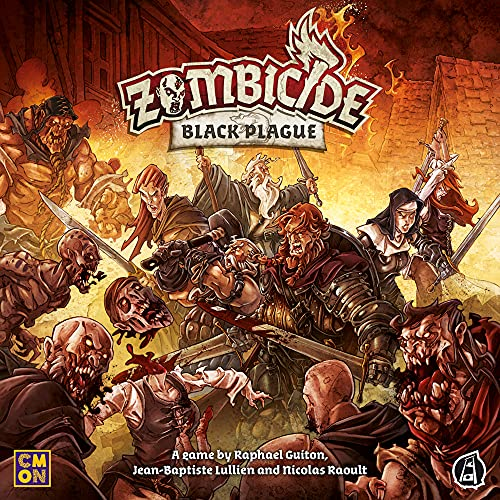 CMON Zombicide Black Plague Board Game (Base)   Strategy Board Game   Cooperative Board Game for Teens and Adults   Zombie Board Game   Ages 14+   1-6 Players   Average Playtime 1 Hour   Made
