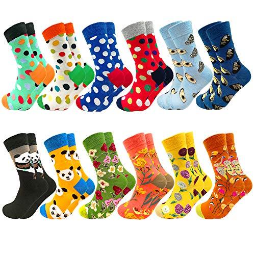 Facefuture Mädchen Lustige Socken Bunte Phantasie Strümpfe Glücklich Baumwolle Sock 12 Paar(1203)