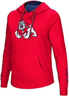 Colosseum Womens Fresno State Bulldogs Pull-Over Hoodie