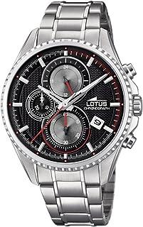 Lotus Watches Reloj Cronógrafo para Hombre de Cuarzo con Correa en Acero Inoxidable 18526/6