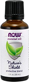 NOW Essential Oils, Nature's Shield, Energizing  Aromatherapy Scent, Blend of Pure Essential Oils, Vegan, 1-Ounce