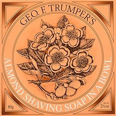 Geo F Trumper Wooden Shaving Bowl & Almond Shaving Soap