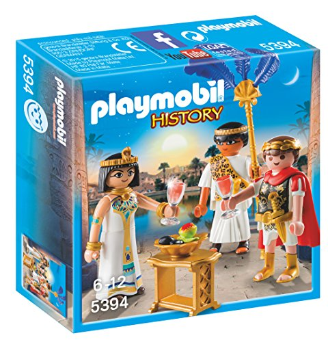 Playmobil Romanos y Egipcios - César y Cleopatra, Playset d
