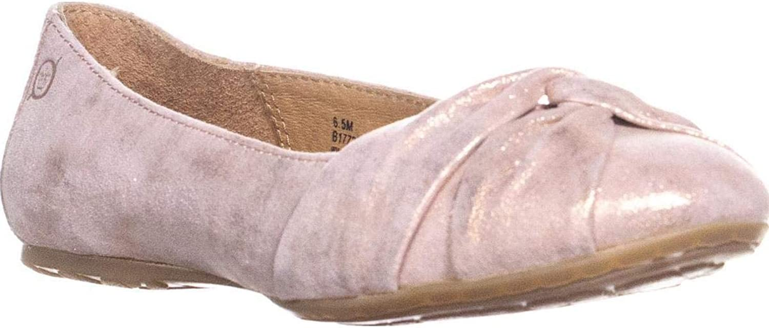 Born Womens Lilly Leather Closed Toe Slide Flats