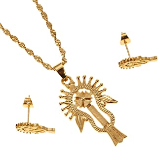 Ethiopia Jewelry Cross Pendant Necklace Gold Filled Jewelry Coptic Cross Necklace