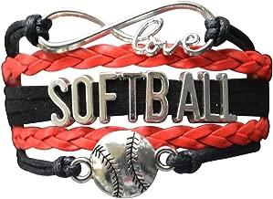 personalized softball bracelets